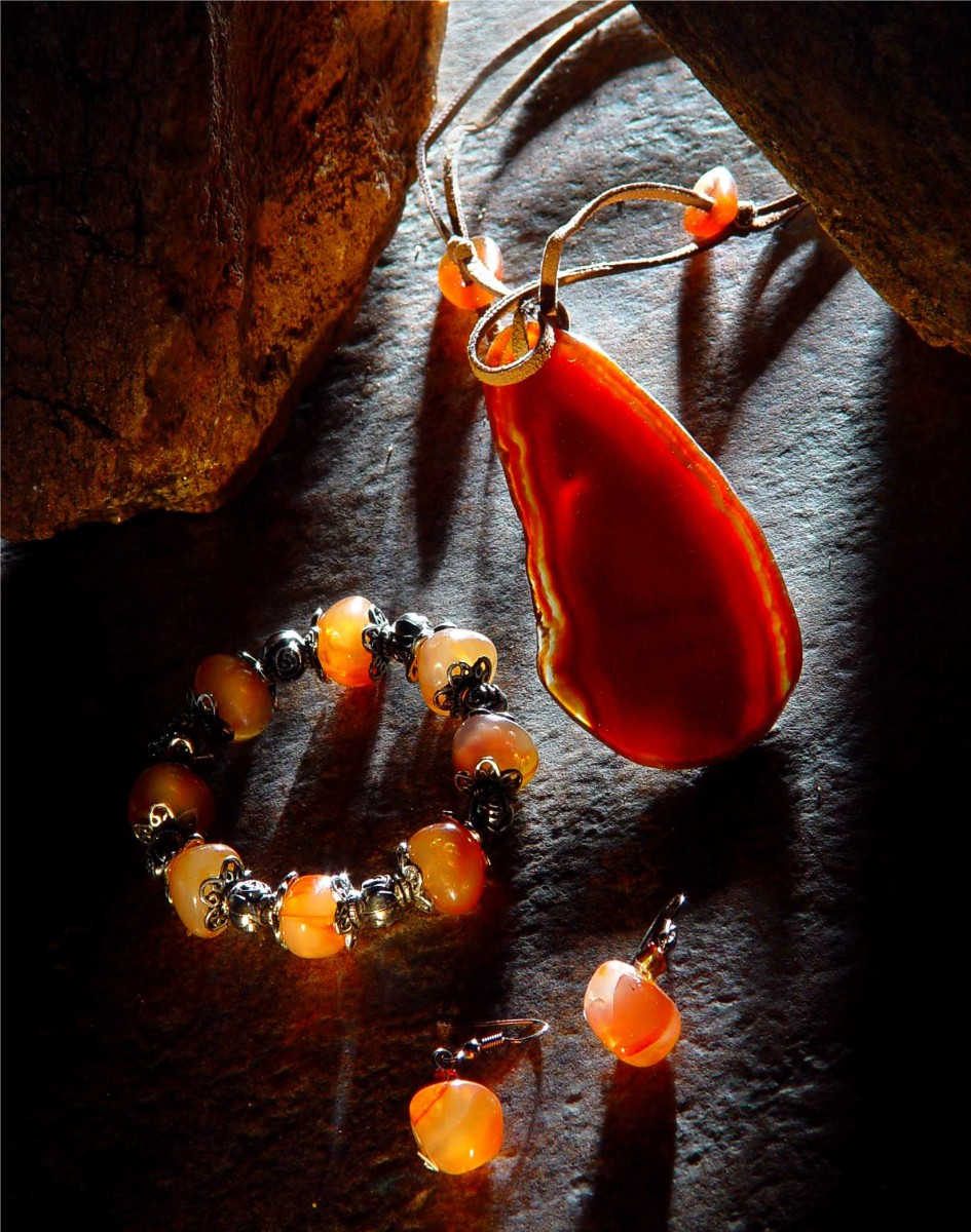 Precious Stone Jewellery - Dramatic Lighting Lifestyle Image